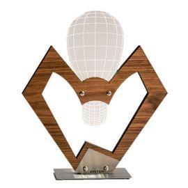 Estro wooden 2D/3D illusion lamp