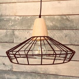 Anabelle Metal and Wood Pendant Light