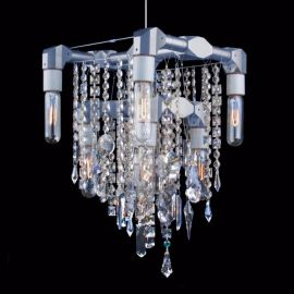 Bryce Collection 9-Bulb Compact Chandelier Pendant