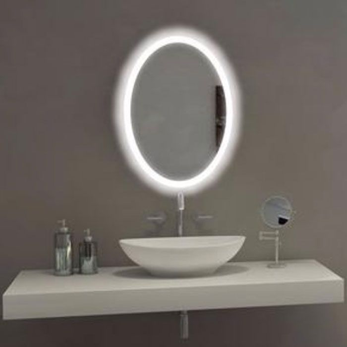Oval Bathroom Mirror With Led Backlight