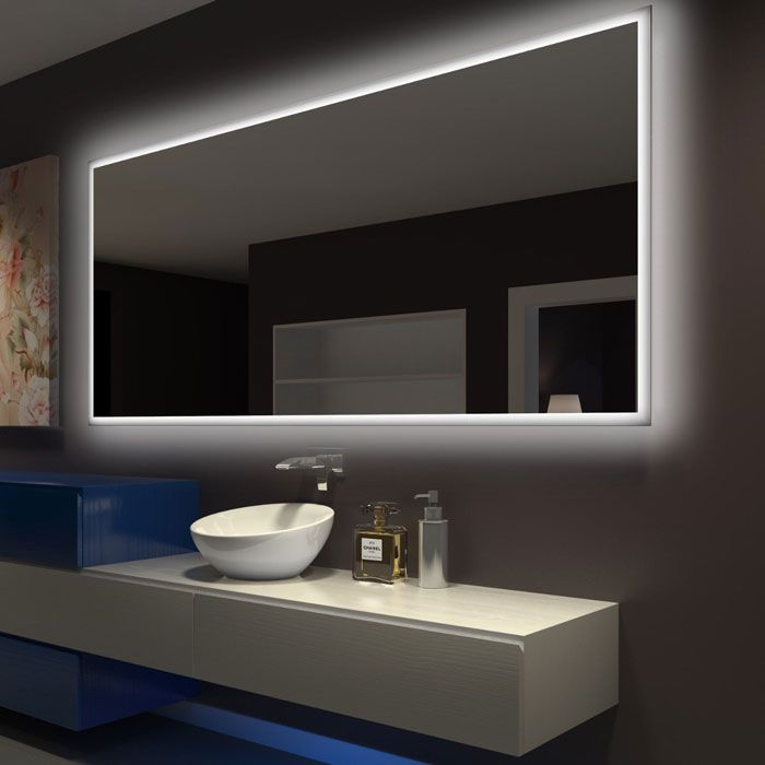 Rectangle Bathroom Mirror With Led Backlight By Paris Mirror Dlaguna