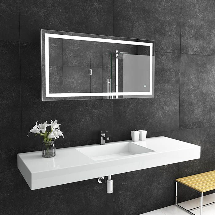 Suite Mirror Liberty Large Led Bathroom Mirror With Light Behind Dlaguna Com