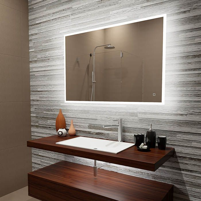 Suite Mirror Reflection Large Led Bathroom Mirror With Backlit Dlaguna Com