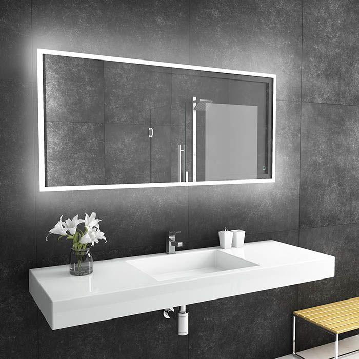 Suite Mirror Reflection Large Led Bathroom Mirror With Backlit Dlaguna Com